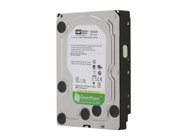 "WD AV-GP WD30EURS 3TB 64MB Cache SATA 3.0Gb/s 3.5"" Internal Hard Drive Bare Drive"