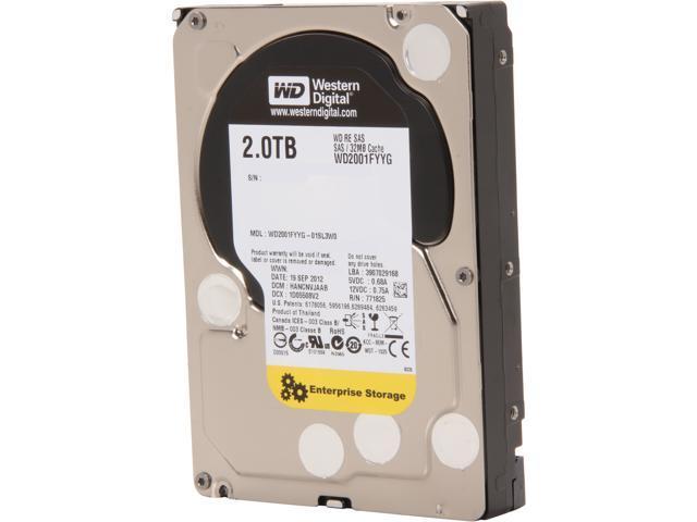 Western Digital RE WD2001FYYG 2TB 7200 RPM 32MB Cache SAS 6Gb/s 3.5