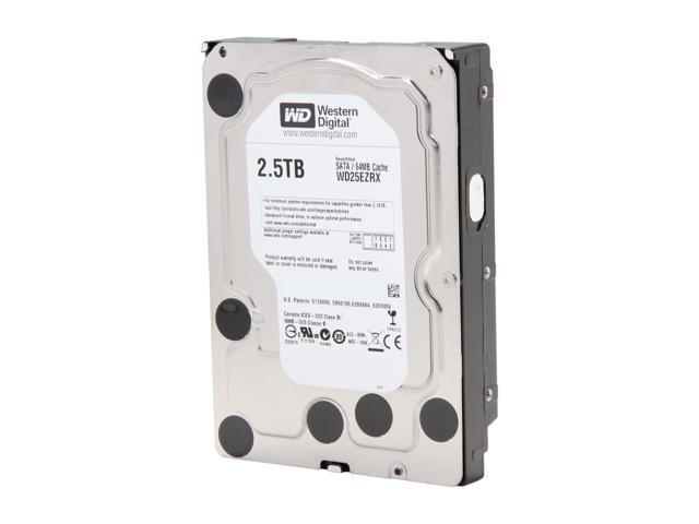 """WD WD Green WD25EZRX-FR 2.5TB 64MB Cache SATA 6.0Gb/s 3.5"""" Internal Hard Drive Bare Drive"""