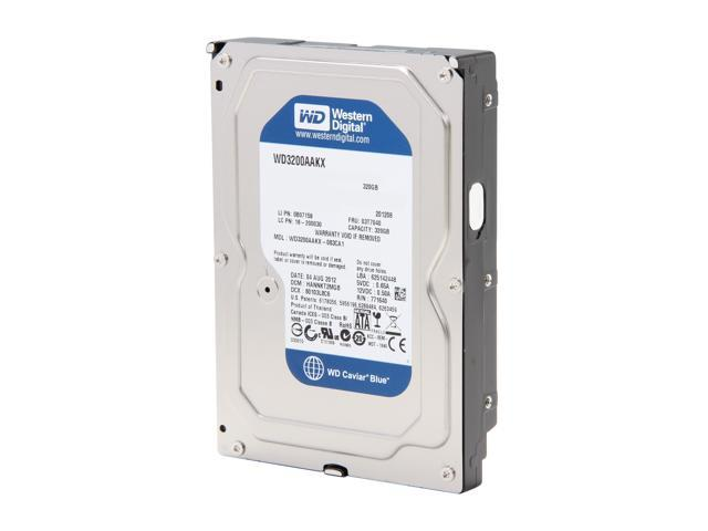 "WD Blue WD3200AAKX-FR 320GB 7200 RPM 16MB Cache SATA 6.0Gb/s 3.5"" Internal Hard Drive Bare Drive"