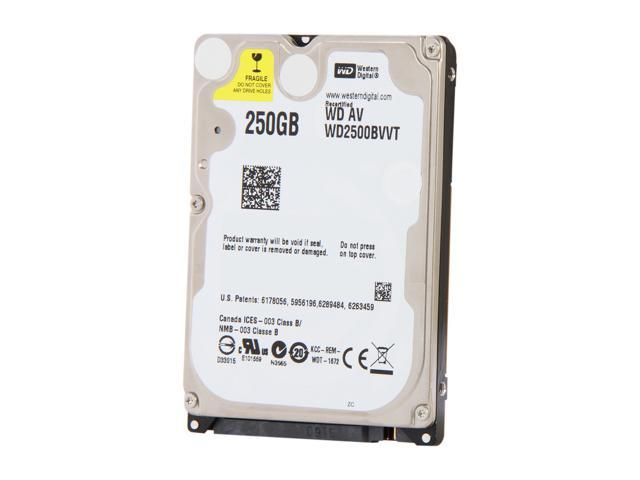 "WD WD2500BVVT 250GB 5400 RPM SATA 3.0Gb/s 2.5"" Internal Notebook Hard Drive Bare Drive"
