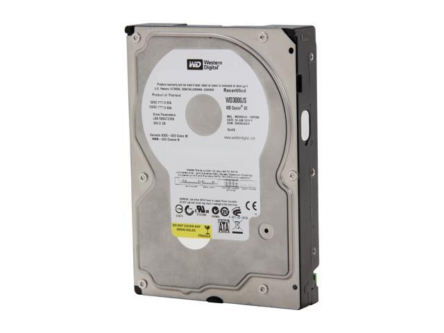 "WD WD3000JS-FR 300GB 7200 RPM 8MB Cache SATA 3.0Gb/s 3.5"" Internal Hard Drive Bare Drive"
