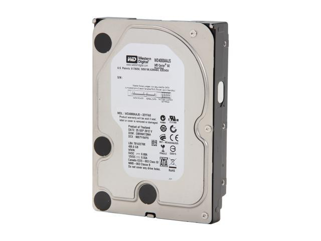 "WD WD4000AAJS-FR 400GB 7200 RPM 8MB Cache SATA 3.0Gb/s 3.5"" Internal Hard Drive Bare Drive"