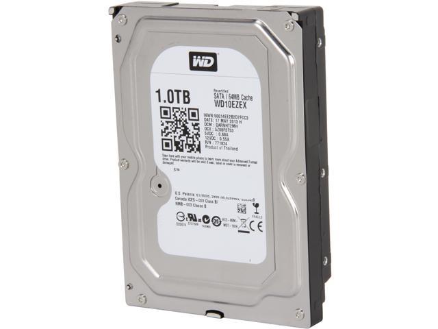 Western Digital Blue WD10EZEX 1TB 7200 RPM 64MB Cache SATA 6.0Gb/s 3.5