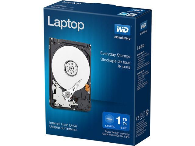WD Laptop Mainstream WDBMYH0010BNC-NRSN 1TB 5400 RPM 8MB Cache SATA 3.0Gb/s 2.5