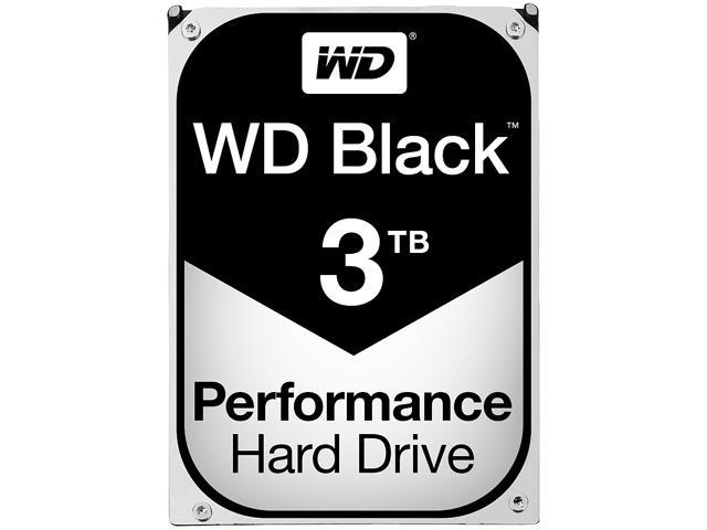 WD Black 3TB Performance Desktop Hard Disk Drive - 7200 RPM SATA 6Gb/s 64MB Cache 3.5 Inch - WD3003FZEX