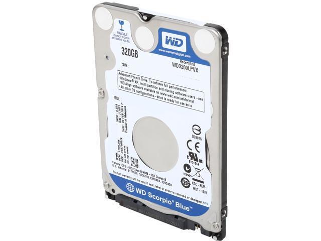 "WD Blue WD3200LPVX 320GB 5400 RPM 8MB Cache SATA 6.0Gb/s 2.5"" Internal Notebook Hard Drive Bare Drive"