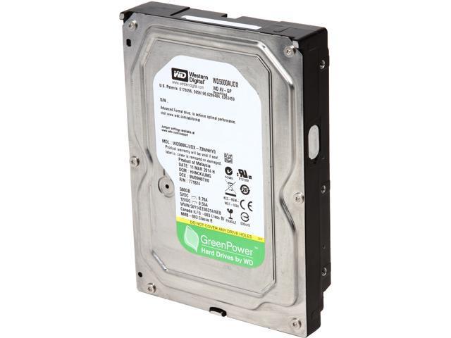 "Western Digital AV-GP WD5000AUDX-FR 500GB IntelliPower 32MB Cache SATA 6.0Gb/s 3.5"" Internal Hard Drive"