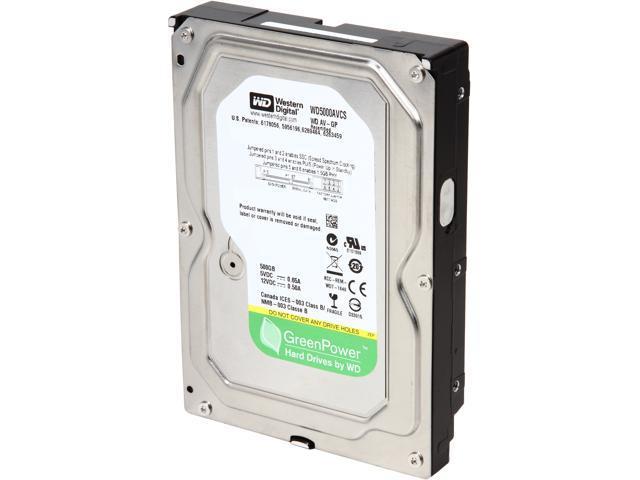 "Western Digital AV-GP WD5000AVCS-FR 500GB IntelliPower 16MB Cache SATA 3.0Gb/s 3.5"" Internal Hard Drive"