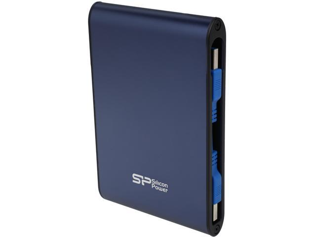 Silicon Power 2TB Armor A80 Portable Hard Drive USB 3.0 Model SP020TBPHDA80S3B Blue