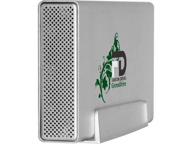 Fantom Drives GreenDrive3 2TB USB 3.0 Aluminum Desktop External Hard Drive GD2000U3A Silver