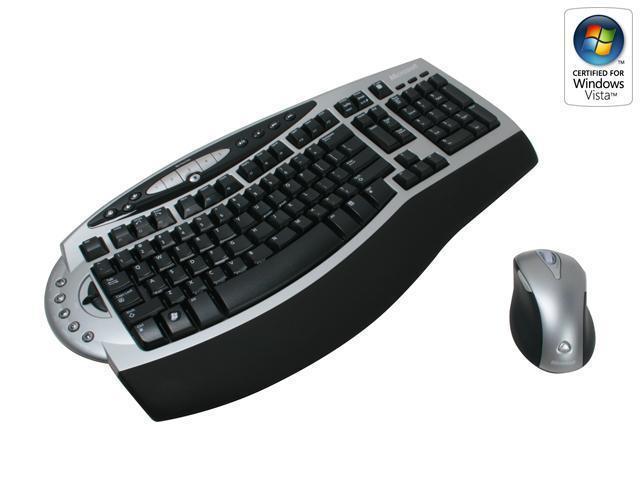 Microsoft 4GC-00002 Silver/Black Wireless Ergonomic Laser Desktop 4000
