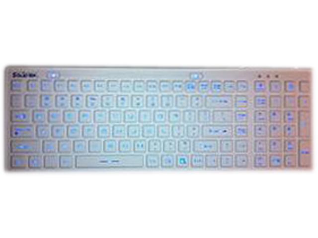 SolidTek KB-IKB106BL White USB Wired Waterproof Backlit Keyboard