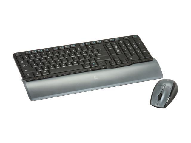 Logitech Cordless Desktop S520 920-000922 Black Cordless Compact Keyboard and Mouse