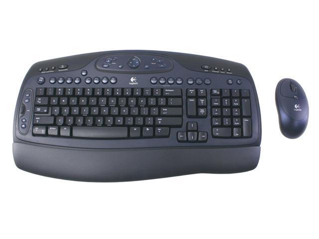 Logitech Cordless Desktop LX500 967420-0403 Blue/Black USB RF Wireless Standard Keyboard
