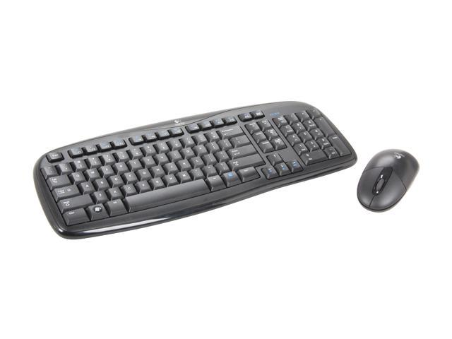 Logitech EX 100 Black RF Wireless Desktop Keyboard and Mouse