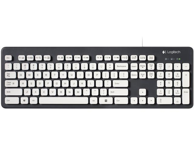 Logitech K310 920-004033 Wired Washable Keyboard - Black/White