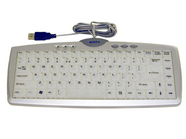 ZIPPY EL- 610 Silver & White Electron luminescent Keyboard