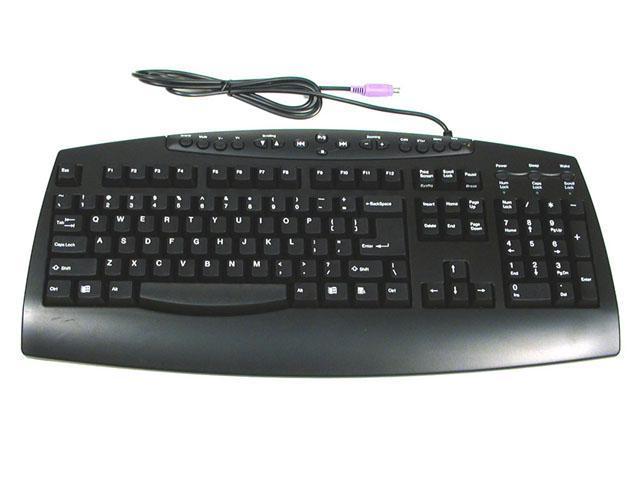 ORtek MCK-800BLK Black Wired Keyboard