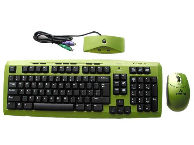 CHIEFTEC PT2001 Green 2-Tone RF Wireless Standard Keyboard