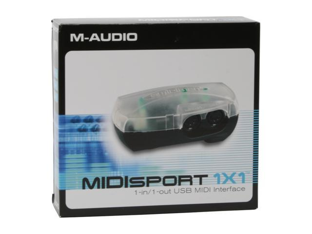 M-AUDIO MIDISPORT 1x1 1-In-1-Out USB Bus-Powered MIDI Interface