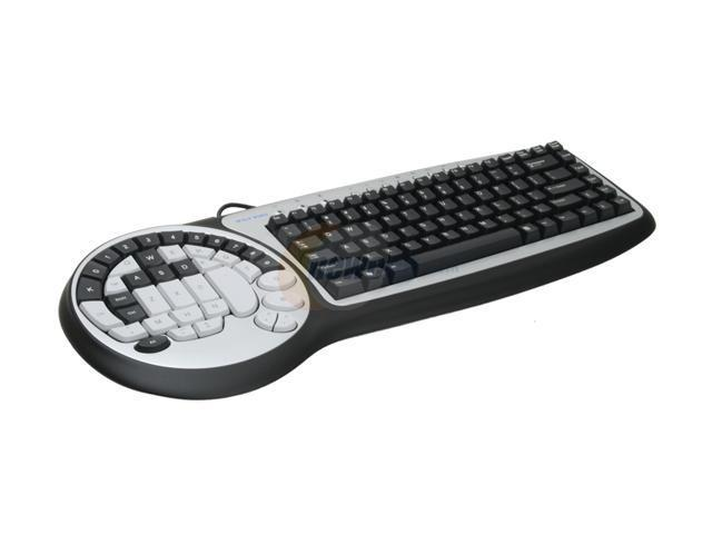 WOLF KING DK2588UH Black/White USB Wired Improved Performance Timberwolf Gaming Keyboard