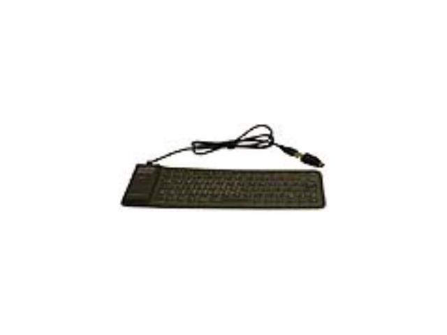 GRANDTEC FLX500U Black USB Wired Mini Virtually Indestructible Keyboard
