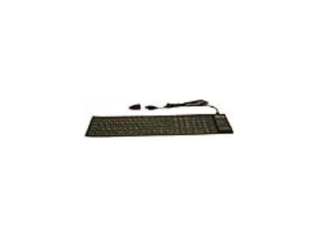GRANDTEC FLX-2000 Black Wired Virtually Indestructible Keyboard