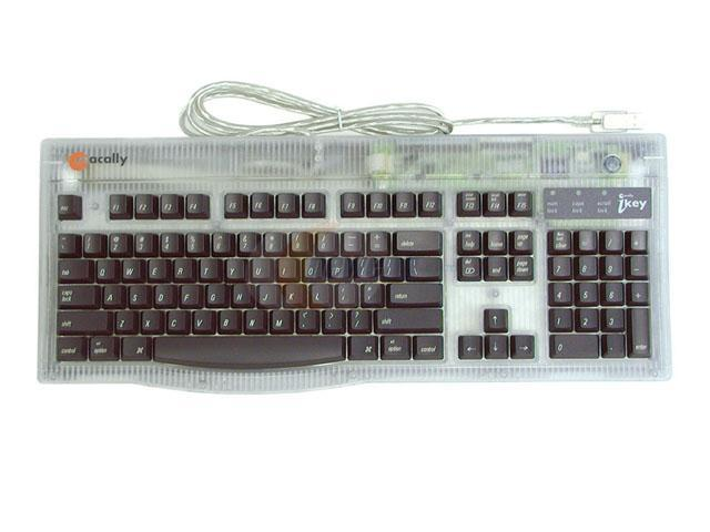 macally IKEY Graphite USB Standard Extended Keyboard for Mac