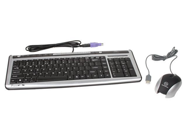 Thermaltake A2263 2-Tone USB or PS/2 Wired Slim Keyboard
