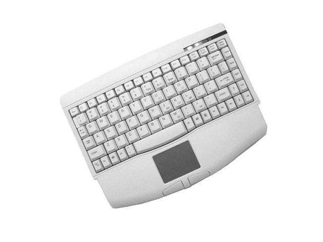 ADESSO ACK-540PW White PS/2 Wired Mini Mini-Touch Keyboard with Touchpad