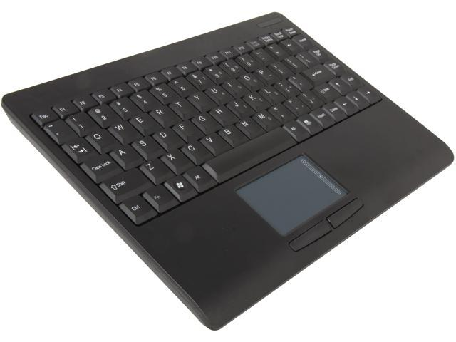 Adesso WKB-4000UB SlimTouch 2.4 GHz RF Wireless Mini Keyboard with Touchpad with min USB receiver and receiver pocket (Black)