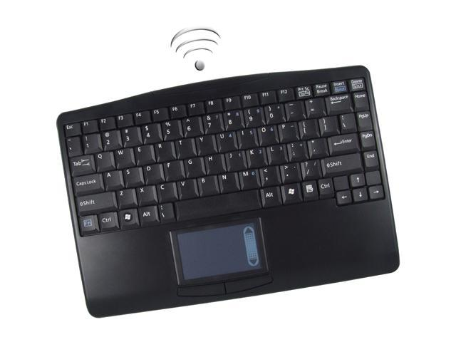 ADESSO SlimTouch 4000BB WKB-4000BB Black Bluetooth Wireless Slim Touchpad Keyboard