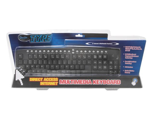 SAKAR 90150 Black Wired Keyboard