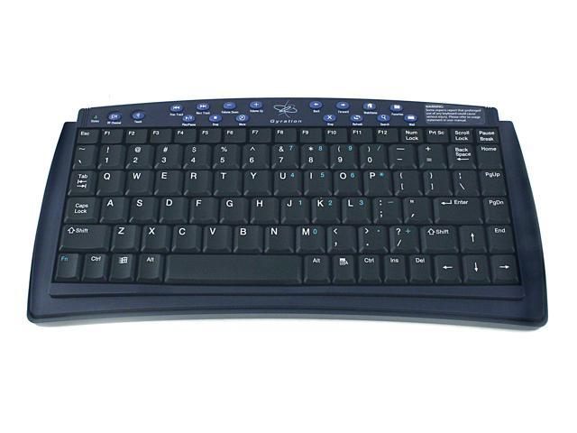 Gyration GP2100-001 Black RF Wireless Media Center Remote & Keyboard