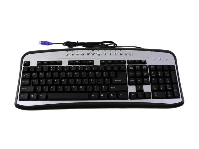 DCT Factory KB-790C Black/Silver PS/2 Standard Keyboard