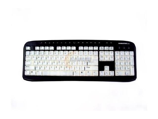 Sunbeam EL-KB-03-BK Black & White PS/2 Standard Illuminated Keyboard