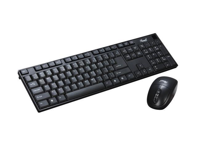 Rosewill RKM-800RF Black 2.4 GHz Cordless Keyboard and Mouse Combo