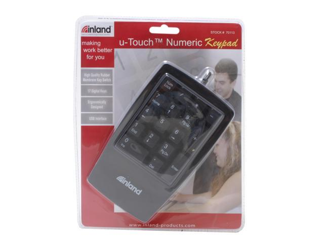 inland u-Touch 70113 Black Keypad