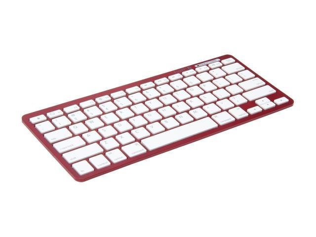 inland 71103 Red Bluetooth Wireless Mini Keyboard
