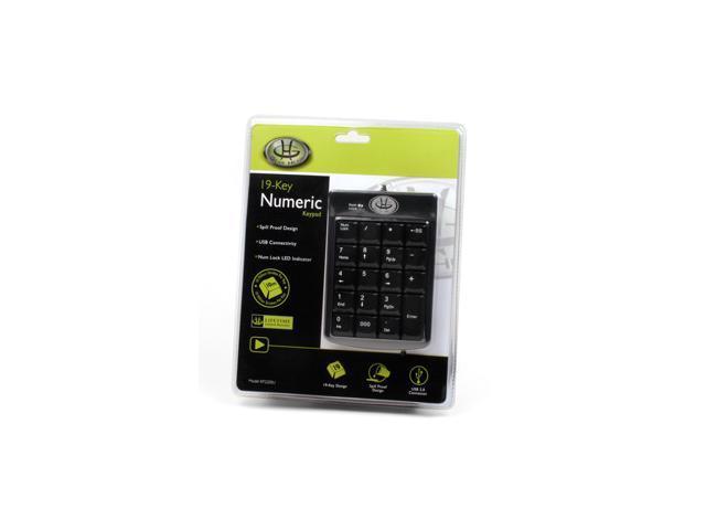 GEAR HEAD KP2200U Black USB Wired Mini Numeric Keypad