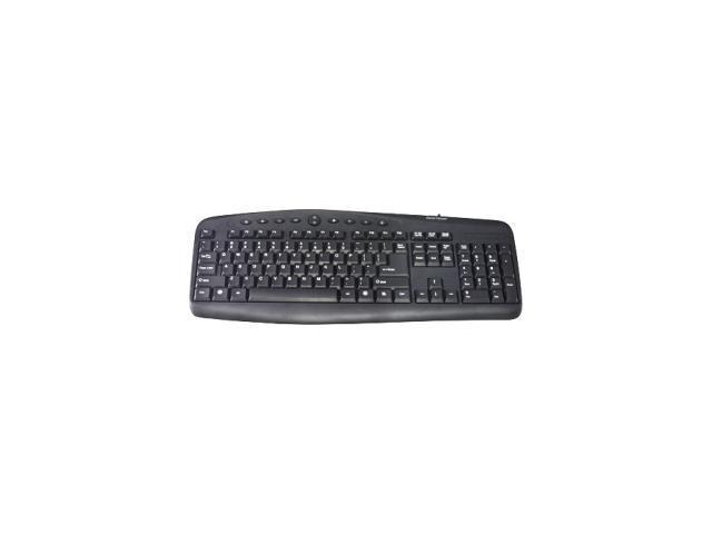 GEAR HEAD Windows Media Pro II USB Keyboard KB3800MPU Black Keyboard
