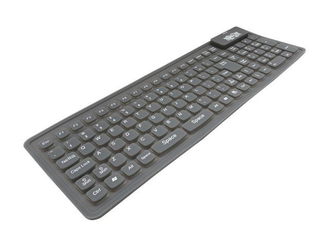 TRIPP LITE IN3008KB Black Wired Compact Flexible Keyboard for Notebook/Laptop