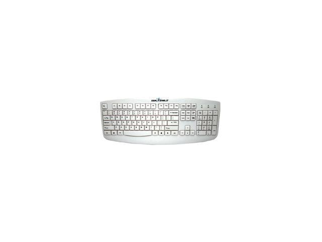 SEAL SHIELD Silver Storm STWK503 White USB Wired Keyboard