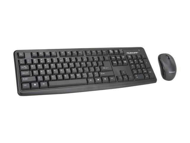 Wintec FileMate B2020 Black RF Wireless Keyboard and Mouse Bundle