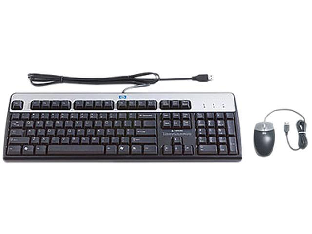 HP 631341-B21 Black USB Wired USB BFR-PVC US Keyboard/Mouse Kit