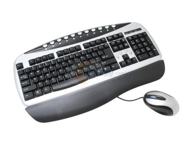 Raidmax KM-101SB Silver & Black Keyboard Mouse Combo Set