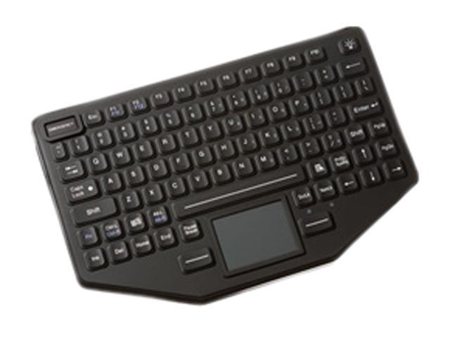 Panasonic iKey SL-86-911-TP-USB-P Black USB Wired Slim Sealed Rubber Backlit USB Keyboard
