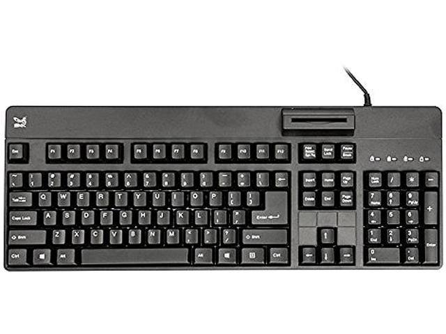 SMK-LINK VP3800 USB Wired TAA-Compliant USB Computer Keyboard with Smart Card Reader