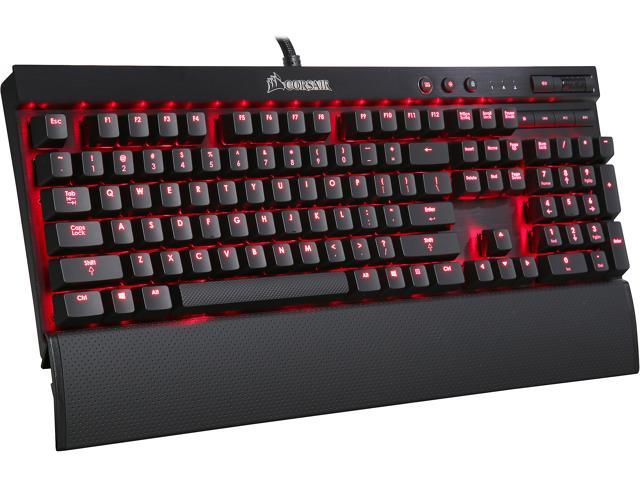 Corsair Certified K70 Vengeance Mechanical Gaming Keyboard, Cherry MX Red, Red LED Backlit (CH-9000114-NA)